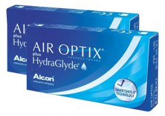 Air Optix plus Hydra Glyde 3 + 3 = 6 линз