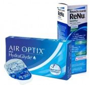 Акция (Air Optix plus Hydra Glyde 4 шт. + ReNu 360 ml.)