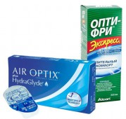 Акция (Air Optix plus Hydra Glyde 4 шт. + Экспресс OPTI - FREE 355 ml.)