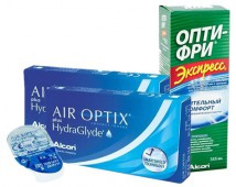 Акция (Air Optix plus Hydra Glyde 6 шт. + Экспресс OPTI - FREE 355 ml.)